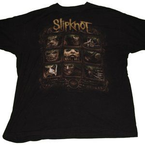 Slipknot Faces Graphic Band T Shirt